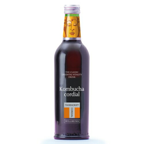 ソーンクロフト ハーブコーディアル コムブッカ 375ml 1本 【THORNCROFT kombucha 英国製 タルゴ 】