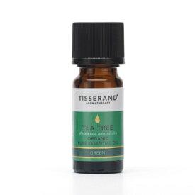TISSERAND ティーツリー 精油 9ml ピュアエッセンシャルオイル 英国土壌協会認証 オーガニック 有機ティーツリー葉油 ティートリー ビーガン ロバートティスランド 人気