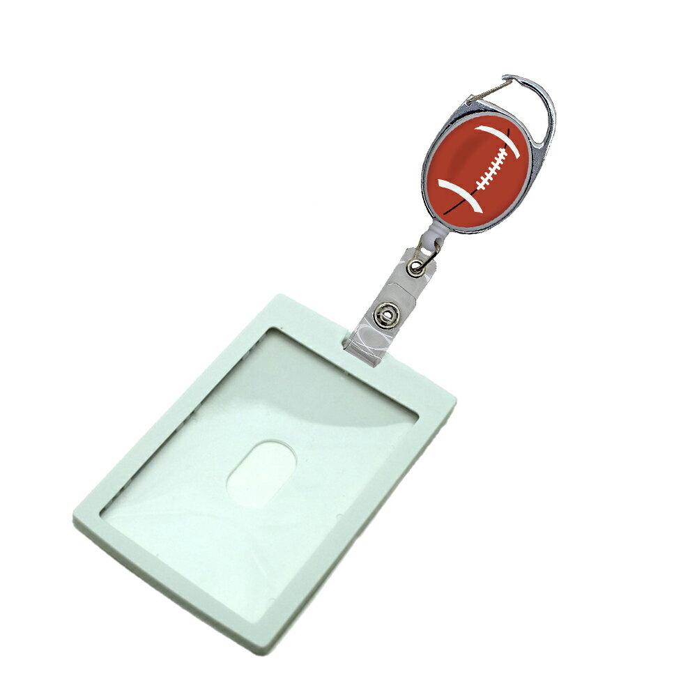 定形外郵便限定 送料無料IDケース カードホルダー PP樹脂製 プラスチック パスケースカラビナ リール ラグビーボール社員証 学生証等に自社工場直販 特別価格