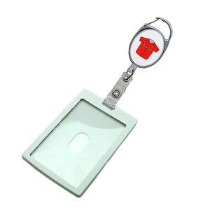 定形外郵便限定 送料無料IDケース カードホルダー PP樹脂製 プラスチック パスケースカラビナ リール 野球 ユニフォーム レッド社員証 学生証等に自社工場直販 特別価格