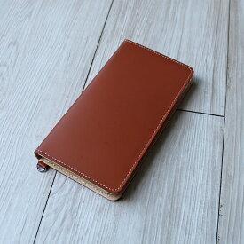 送料無料iPhone XSMax XR X XS 8Plus 6Plus 6sPlus 7Plus 対応牛革スマホケース 手帳型 革 ブラウン スマートフォンケース 日本製