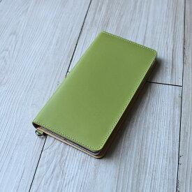 送料無料iPhone XSMax XR X XS 8Plus 6Plus 6sPlus 7Plus 対応牛革スマホケース 手帳型 革 ミント スマートフォンケース 日本製