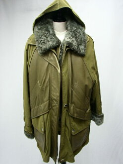 * Available on price negotiations * lamb fur trimmed leather coat mustard M size