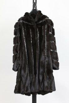 Mink fur coat black Lady's gift present