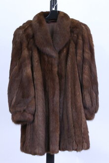 Sable coat fur coat brown color Lady's gift present