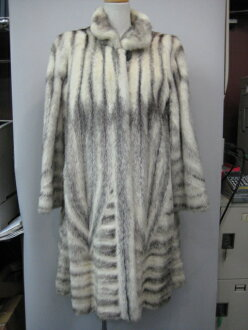 The black cross mink fur coat lady's gift present which there is reason in