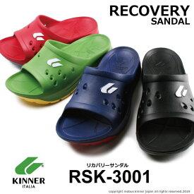 サンダル メンズ キナー KINNER RSK-3001 リカバリーサンダル 疲労回復 イタリア ブランド 発売開始!
