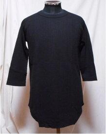 JEMORGANサーマル 七分袖Tシャツ(裾カーブ)M〜XLサイズ09.黒6022-226ジェーイーモーガン