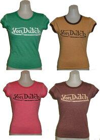 ボンダッチVon Dutchレディース ロゴ Tシャツ