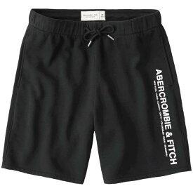 【並行輸入品】アバクロンビー&フィッチ メンズ ショートパンツ ( スウェットパンツ ) Abercrombie&Fitch City Graphic Shorts (ブラック) 【 短パン ハーフパンツ 】