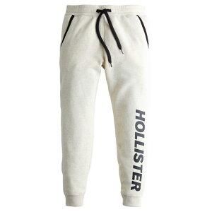 【並行輸入品】ホリスター メンズ スウェットパンツ ( ジョガーパンツ ) Hollister Fleece Jogger Pants (オートミール) 【 スウェット ロングパンツ 】