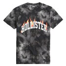 ホリスター正規品メンズTシャツ(半袖)HollisterFlameLogoGraphicTee(ブラック)【tシャツtシャツ】