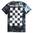 【並行輸入品】【メール便送料無料】ホリスターメンズ両面プリントTシャツ(半袖)HollisterTie-DyeCheckerboardGraphicTee(ブルー)【tシャツtシャツ】