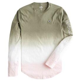 【並行輸入品】【メール便送料無料】ホリスター メンズ ロングTシャツ ( ロンT ) Hollister Ombre Graphic Tee (オリーブピンク) 【 ロンt ロンt 長袖tシャツ 】
