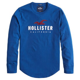 【並行輸入品】【メール便送料無料】ホリスター メンズ ロングTシャツ ( ロンT ) Hollister Applique Logo Graphic Tee (ブルー) 【 ロンt ロンt 長袖tシャツ 】
