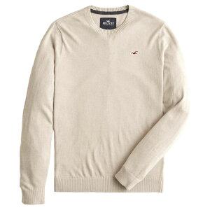 【並行輸入品】【メール便送料無料】ホリスター メンズ セーター ( クルーネック ) Hollister Lightweight Crewneck Sweater (オートミール) 【 ニット セータ 】