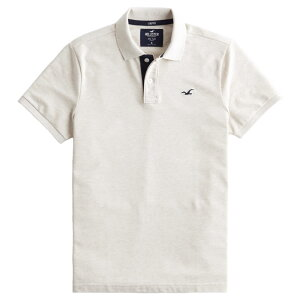 【並行輸入品】【メール便送料無料】ホリスター メンズ ポロシャツ ( 半袖 ) Hollister Stretch Polo (オートミール) 【 ポロ 】