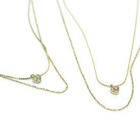真鍮材質ハートペンダント2連ネックレス【K18-03】アクセサリー 指輪 ゆびわ カワイイ レディース 女性 プレゼント