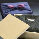 父の日プレゼント 父の日ギフト 甚平 メンズ 男性 じんべい 木箱 (竹籠) 入り 風呂敷 包み しじら織り【男性甚平 じん…