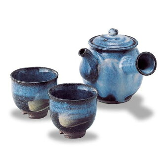 Hagi-yaki (はぎやき) teapot Cup set Hagi Dharma small tea set / Yamane Qing Wan made of wooden boxes with pottery from Hagi pottery tea pot Cup set luxury Hagi pottery tea pot Cup set writer Potter to Hagi ware tea pot Cup set