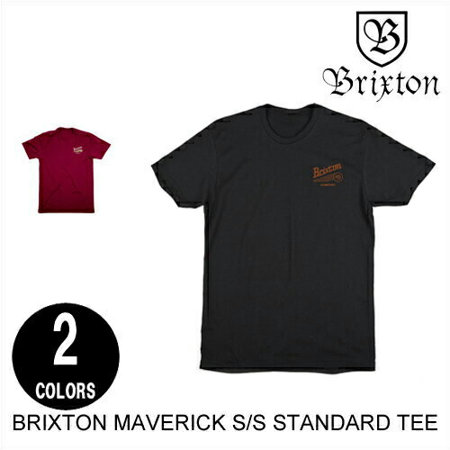 BRIXTON ブリクストン MAVERICK S/S STANDARD TEE 【2色】 M 半袖Tシャツ