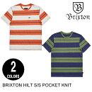 BRIXTONブリクストンHILTS/SPOCKETKNIT【2色】M-XL半袖Tシャツ[セ]