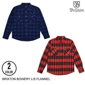 BRIXTON ブリクストン BOWERY L/S FLANNEL 【12色】 XS-XL フランネルシャツ [セ]