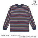BRIXTONブリクストンHILTL/SPOCKETTEE【2色】S-XXL長袖Tシャツ[セ]