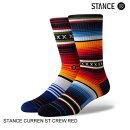 STANCEスタンスCURRENSTCREWREDスケート・メンズ・靴下・ソックス[セ]