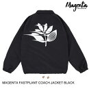 MAGENTASKATEBOARDマジェンタFASTPLANTCOACHJACKETBLACKS-XLジャケット[セ]