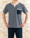 父の日 メンズ パジャマ 半袖 かぶりハーフパンツ 綿100%【半袖・5分パンツ】【夏向き素材】【男性用】