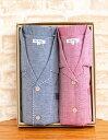 ペア パジャマ 半袖 ダブルガーゼ肌にやさしい綿100% 半袖・長パンツ ギフトパジャマ 父の日 母の日 プレゼント…