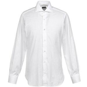 バルバ コットンシャツ 401 ワイドカラー Barba メンズ コットン 長袖 シャツ 父の日 ギフト プレゼント