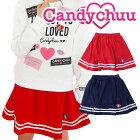 Candychuu(キャンディチュウ)2本ラインスカート(インパンツつき)子供/キッズ/女の子/女子小学生