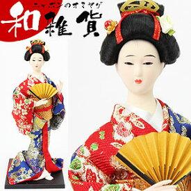 京雅吉兆 5号 日本人形 金襴/赤青/扇子 【和雑貨/日本のお土産】【RCP】