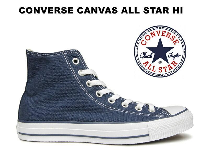 コンバース ハイカット オールスター CONVERSE CANVAS ALL STAR HI NAVY ネイビー 薄紺