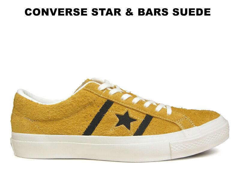 【26.5cmのみ】CONVERSE STAR&BARS SUEDE コンバース スター&バーズ スエード ゴールド/ブラック