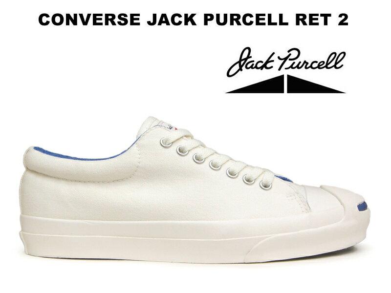 【26.0cmのみ】コンバース ジャックパーセル CONVERSE JACK PURCELL RET 2 ホワイト/ブルー