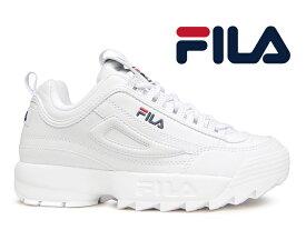 【国内正規品】フィラ ディスラプター 2 FILA DISRUPTOR 2 ホワイト 白 スニーカー ローカット レディース 厚底 靴 ダッドシューズ ユニセックス【レディース】