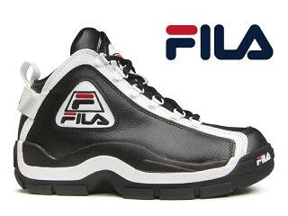 FILA96GLGRANTHILLグラントヒルブラック/ホワイト黒/白スニーカーハイカットレディースメンズ