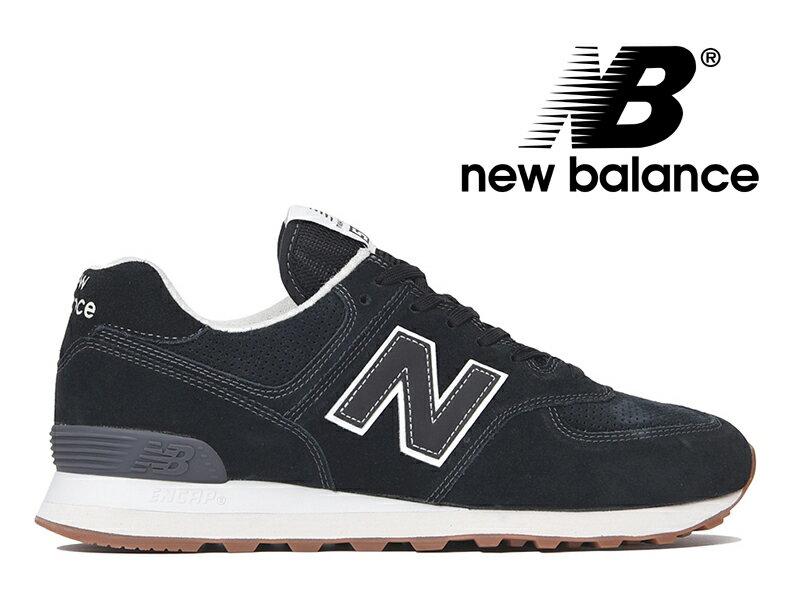 【2018年リニューアルモデル】NEW BALANCE ML574 ESE ニューバランス スニーカー レディース メンズ ブラックスエード 黒【国内正規品】
