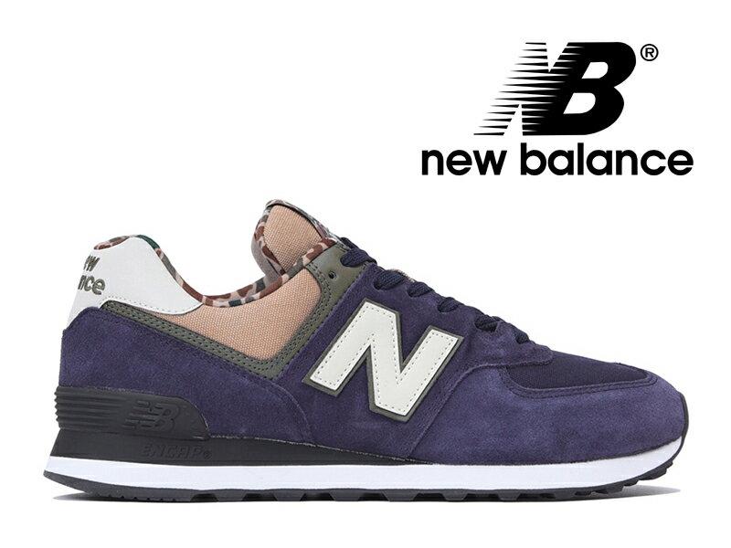 残り23.0センチのみ【2018年リニューアルモデル】NEW BALANCE ML574 HVA ニューバランス レディース メンズ ピグメント (ネイビー/カモ柄) 紺【国内正規品】