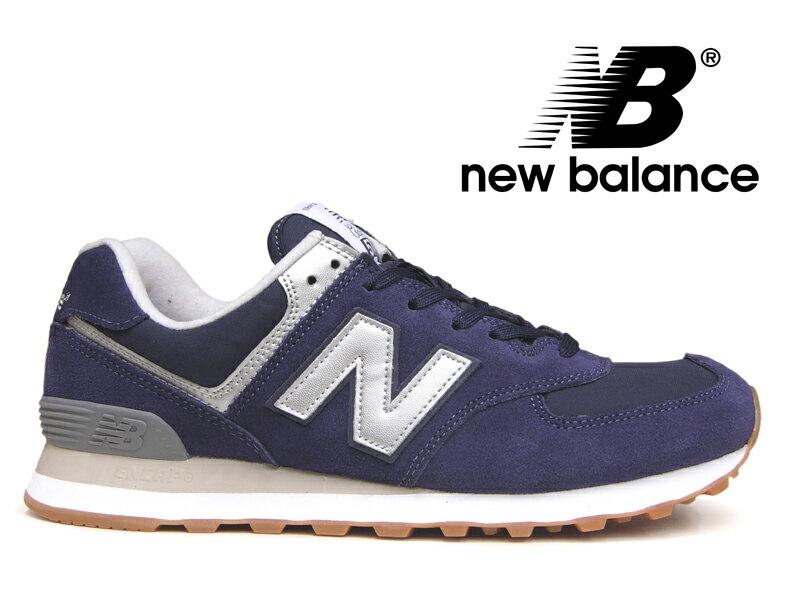 ニューバランス NEW BALANCE ML574 HRJ レディース メンズ ブルー/グレー(ネイビー) 紺【国内正規品】