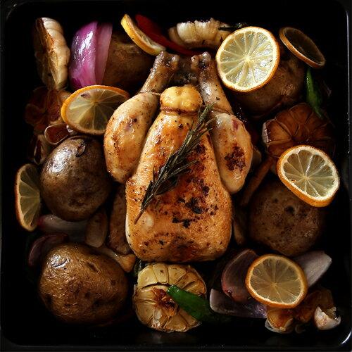 【新商品お試し企画!】ローストチキンを丸ごと一羽で!非日常感を演出する旨鶏プーサン!いまだけもう一羽おまけ!BBQのグリルにもおすすめです!丸ごと雛鳥プーサンP.A.C【約450g×2羽】【中抜き】【冷凍のみ】【D+1】