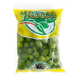 ラ ロッカ フレッシュ 生グリーンオリーブ 種あり 500g <シチリア産>【冷蔵のみ】【D+0】
