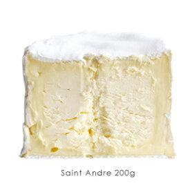【チーズ】フランス産 乳脂肪分が最強!まるでバターのような白カビタイプのチーズです!サンタンドレ 業務用 200g【冷蔵のみ】【D+2】