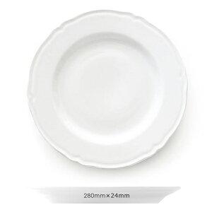 Saturnia(サタルニア)プラガ ディナープレート28 (約28cmx2.5cm) 【常温/冷凍不可】【D+2】 【お皿 白 食器 洋食器 トラットリア リストランテ イタリア】