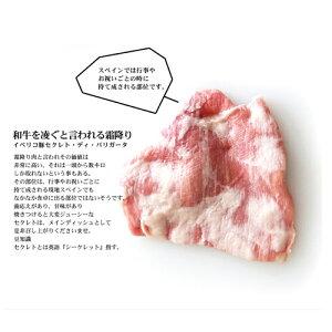 イベリコ豚最高ランクベジョータ!赤身のカルビ&霜降りのセクレトディバリガータセット!イベリア半島原産種血統75%以上のイベリコ豚となります。【2010楽天グルメ大賞豚肉部門受賞】【800g】【冷凍のみ】