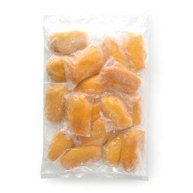 完熟マンゴー ハーフカット 現地で完熟した自然な甘さと、適度な酸味がたまらない!フィリピン産マンゴーをI.Q.F瞬間凍結しました【1kg】【冷凍のみ】【D+2】