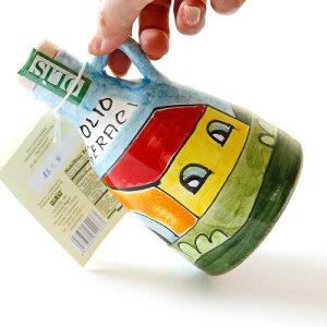 シチリア産世界に一つだけ★ニーノ・パルッカ工房の陶器オリーブオイルポッド!オリーブオイル入り250ml 一個づつ手作りした唯一無二の逸品!【常温品/全温度帯可】【D+0】 【父の日 ギフ
